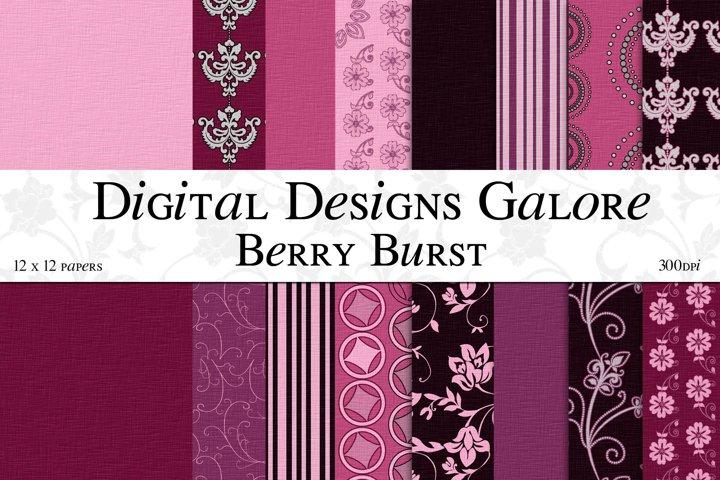 Berry Burst Digital Paper Pack