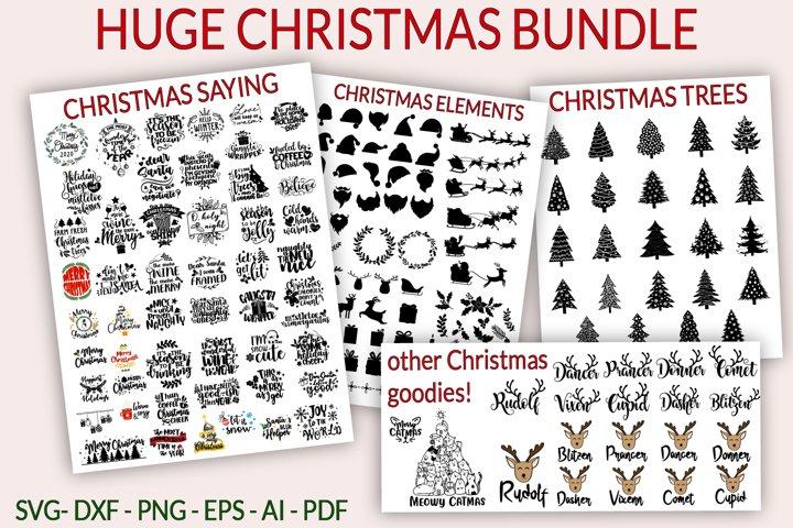 HUGE Christmas SVG Bundle - BIG bundle 180 Christmas SVG DXF