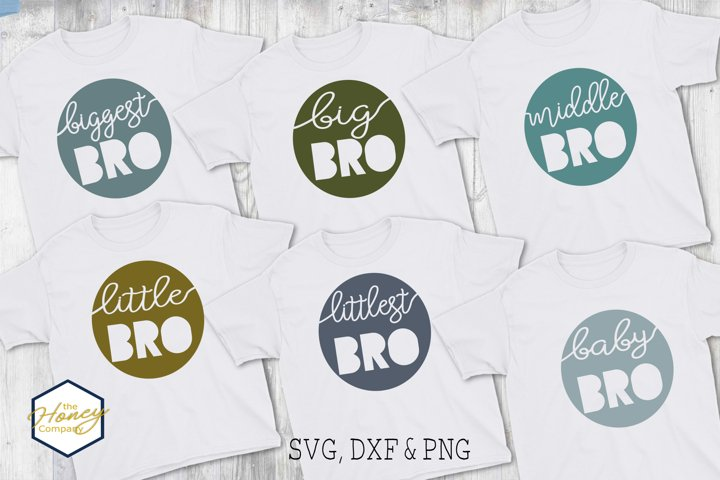 Brother Big Little Family Bundle SVG PNG DXF Cutting File