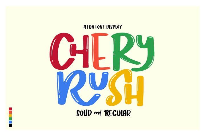 Chery Rush a fun display font