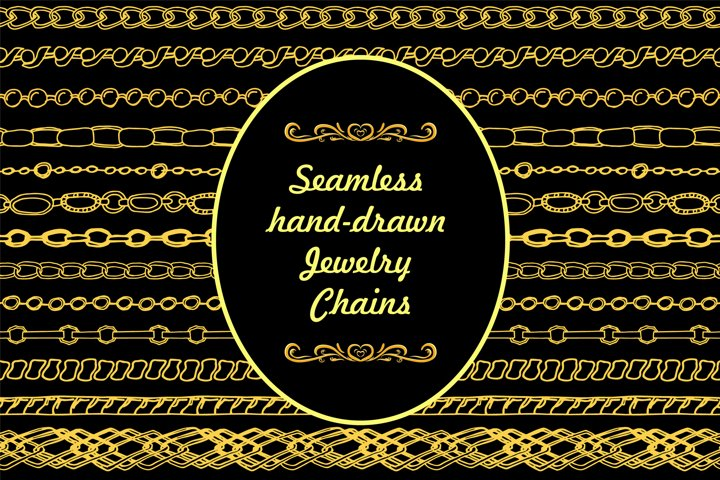 Jewelry Chains. Vector brushes for Illustrator
