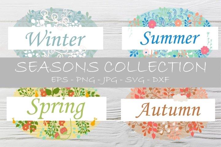 Seasons collection design elements