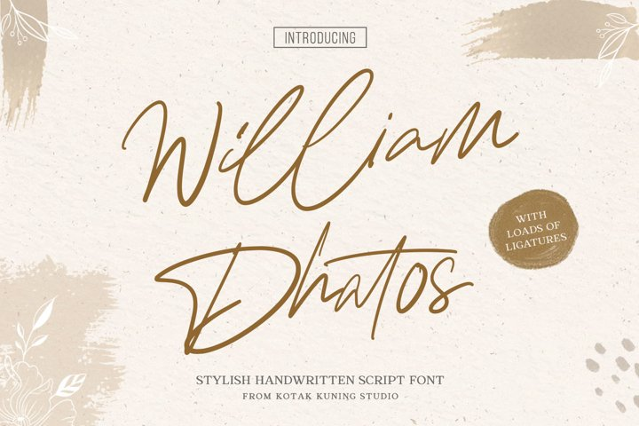 William Dhatos - Stylish Handwritten Font