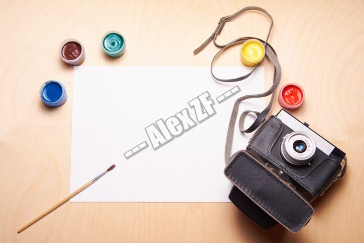 Retro camera and white sheet