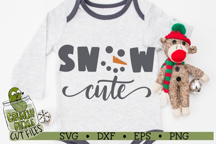 Snow Cute Snowman SVG Cut File