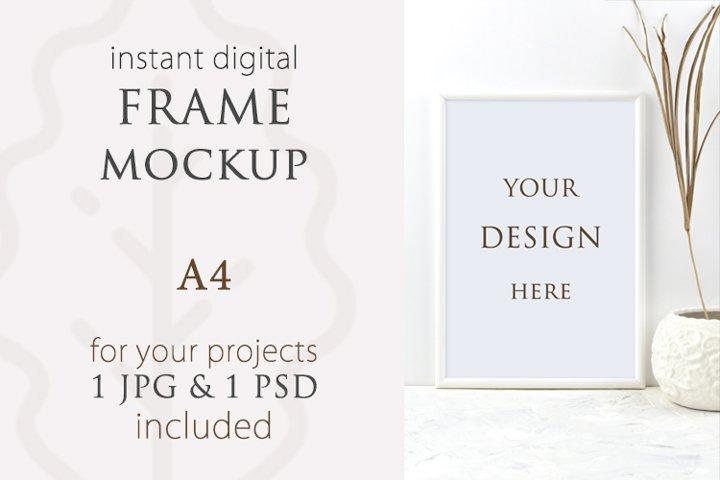 Frame mockup A4 vertical, Poster mockup, Signs Mockup