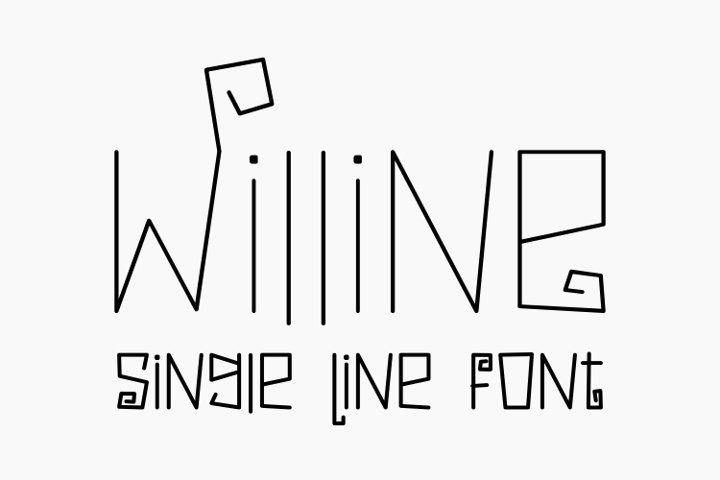 Willine - Single Line - Hair Line Font