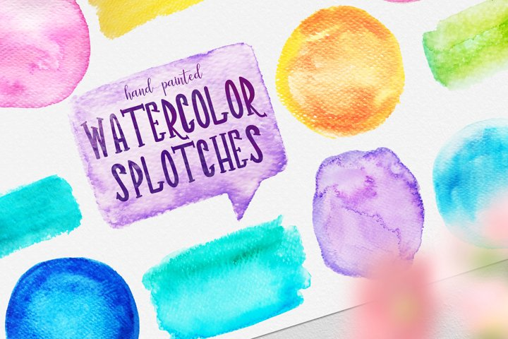 Watercolor Splotches