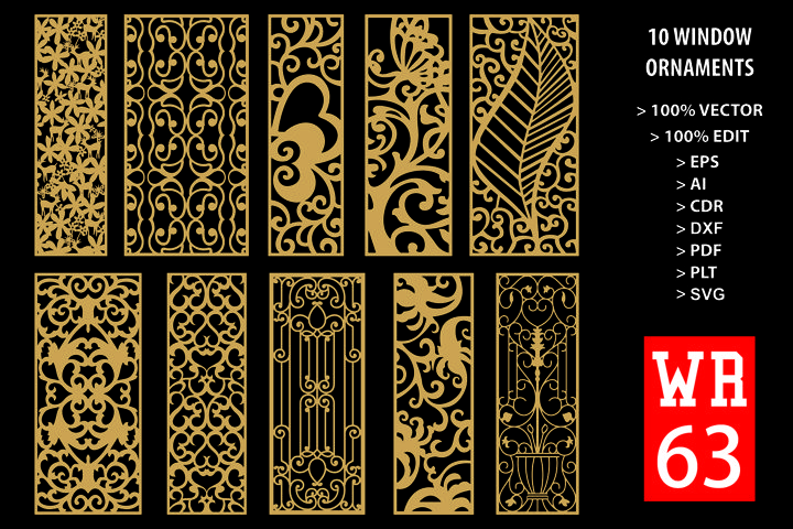 WR 63, Carved Window Ornaments Laser Cutting
