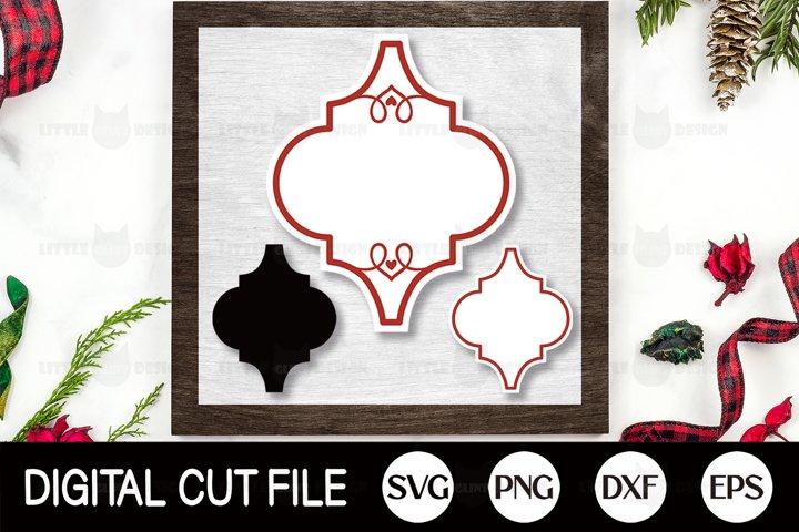 Arabesque Ornament Template, Christmas Bundle SVG, Cricut