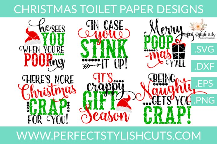 Christmas SVG - Christmas Toilet Paper SVG Bundle