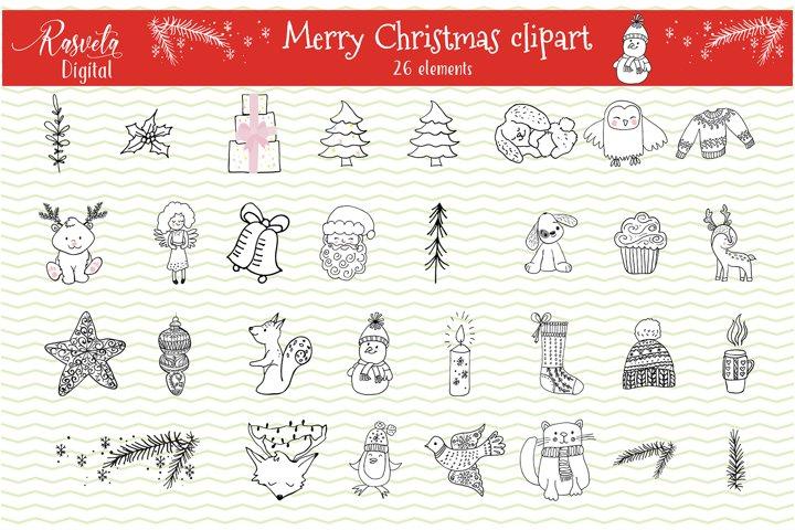 Christmas card kit Decor clipart