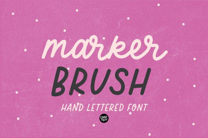 MARKER BRUSH Handmade Script