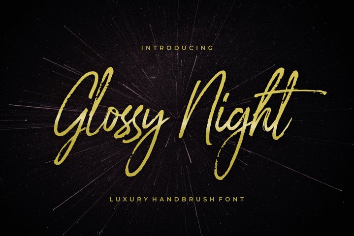 Glossy Night - Luxury Handbrush Font