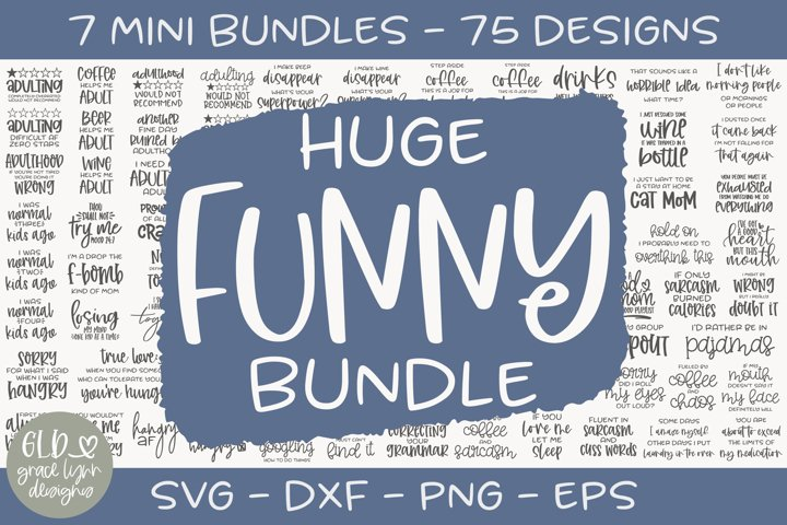 Huge Funny Bundle - 75 Designs