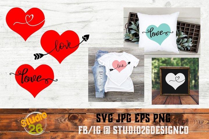 Valentine Hearts - SVG PNG EPS