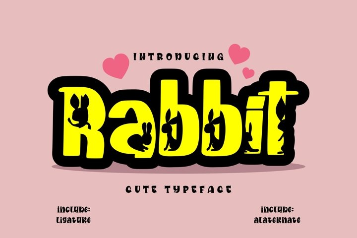 Rabbit | Cute Typeface