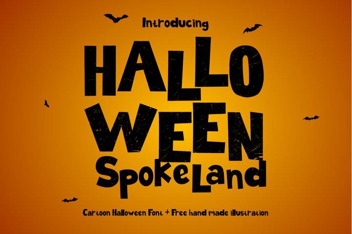 Halloween Spokeland Cartoon Font - Free Font Of The Week Font