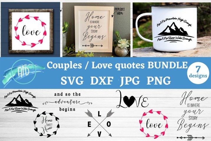 Love svg bundle, Couples SVG, Valentines Day svg, Wedding