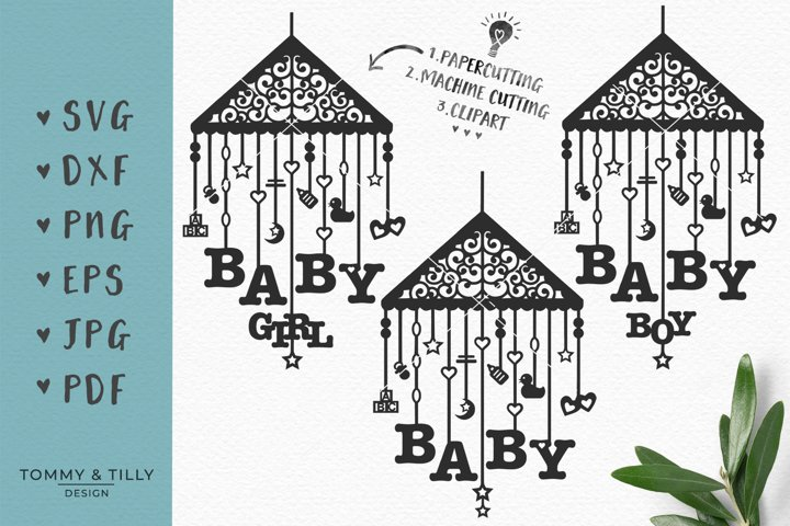 Baby Mobile Bundle - SVG DXF PNG EPS JPG PDF Cutting File example