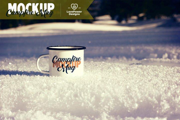 Winter Mug Mockup | Christmas Mug Mockup | Enamel Mug