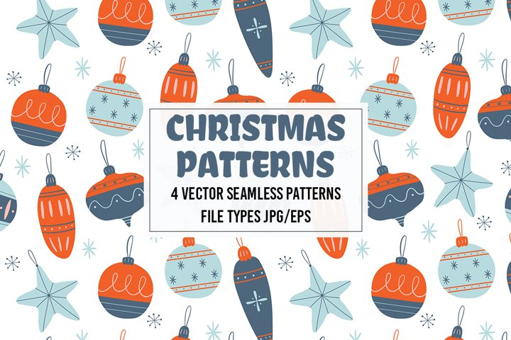 Christmas vector seamless pattern.Merry Christmas, New Year.