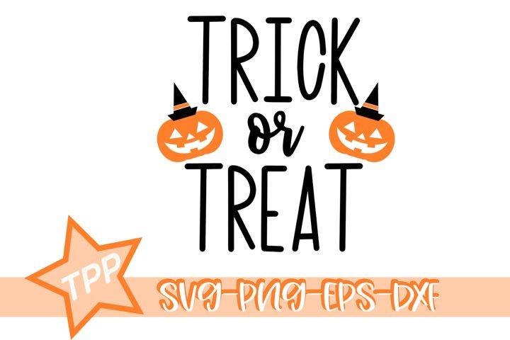 Trick or Treat svg, Halloween svg, Pumpkin cutting file