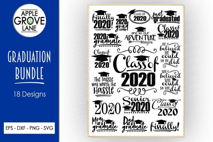 Graduation 2020 Svg Bundle - 18 Designs - Svg Cut Files