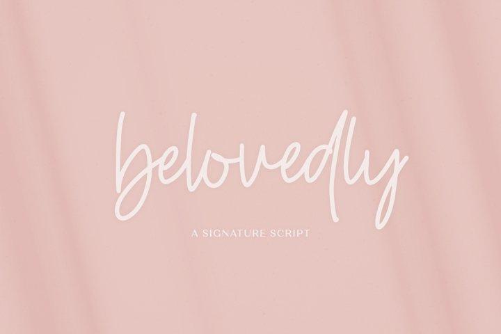 Belovedly Signature Script Font
