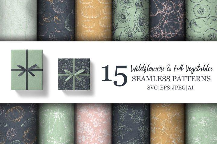 Wildflower & Fall Vegetable Patterns
