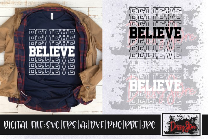 Believe SVG DXF Ai EPS PDF PNG JPG