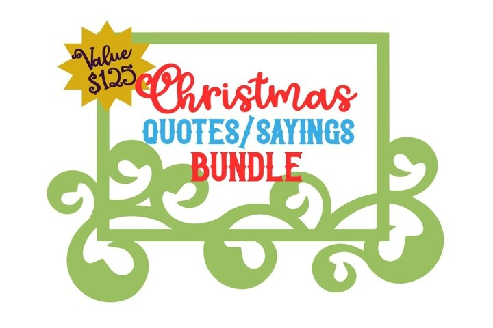 Christmas Quote/Saying Word BUNDLE 170 SVG Cut Files
