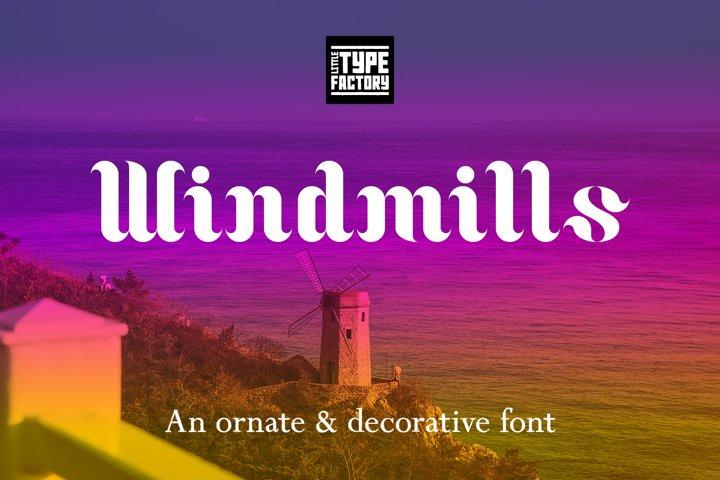 Windmills Font PLUS BONUS FREE Mindwills