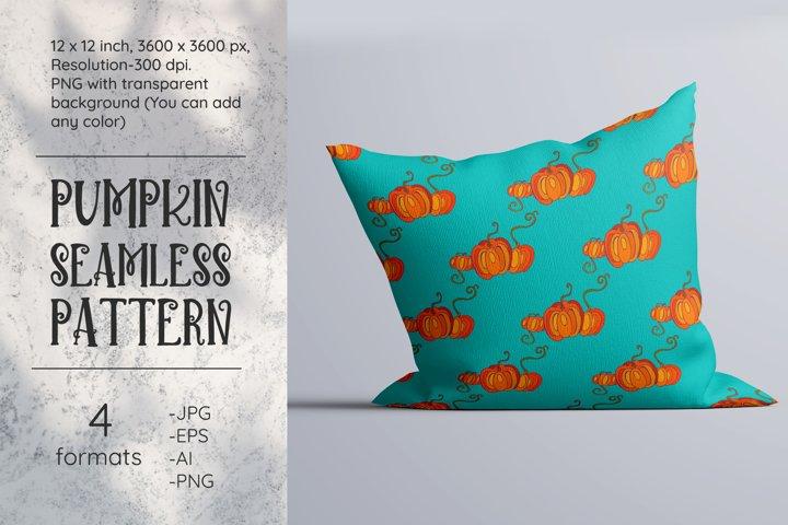 Pumpkin pattern. Pumpkin digital paper. Seamless. PNG. JPG
