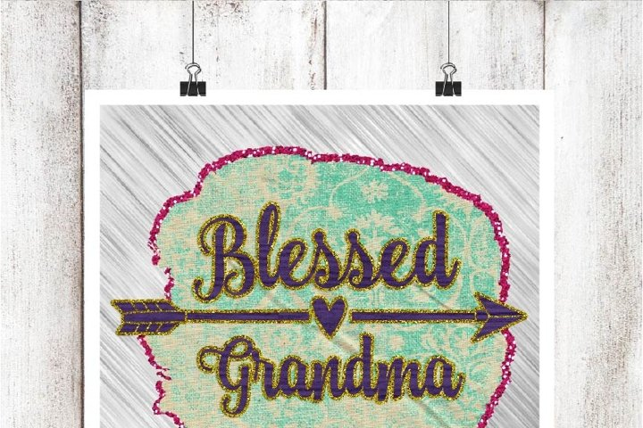 Blessed Grandma Digital Graphic