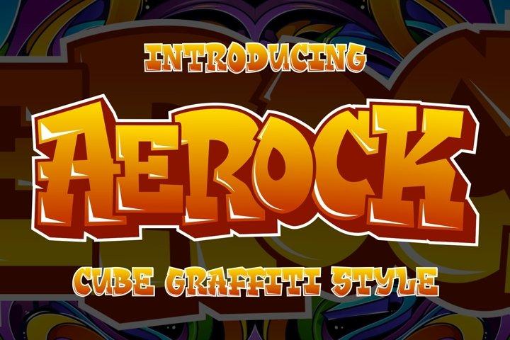 Aerock - Layered Graffiti Font