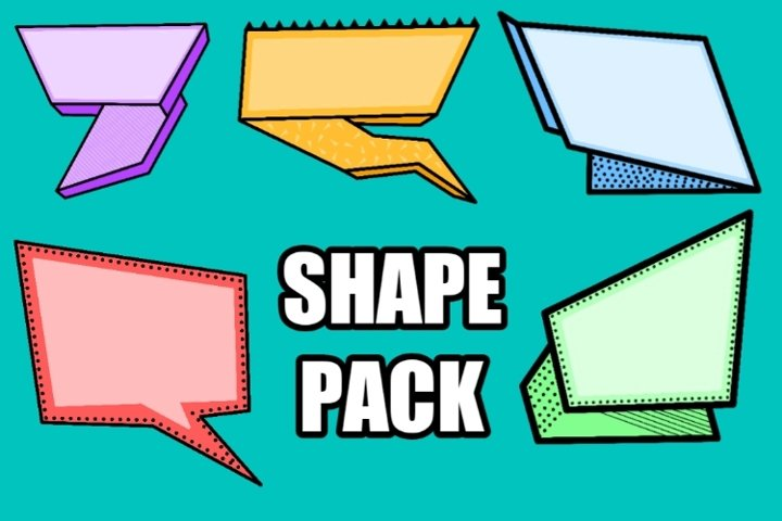 BUBBLE CHAT COMIC SHAPE PACK