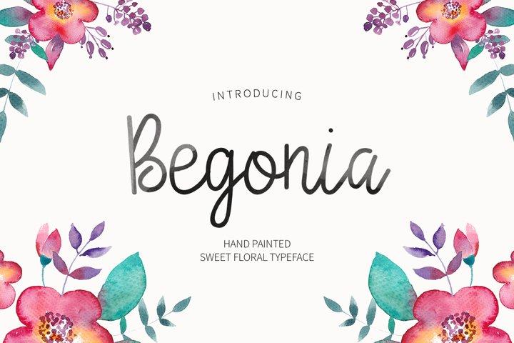 Begonia - Free Font of The Week Font