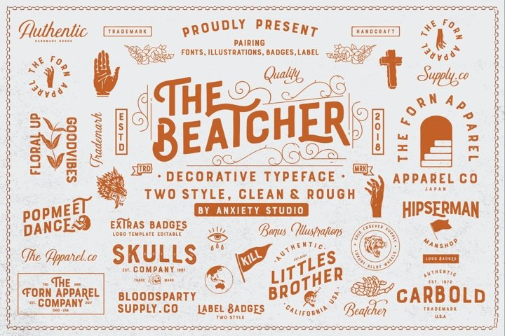 The Beatcher Typeface Extras