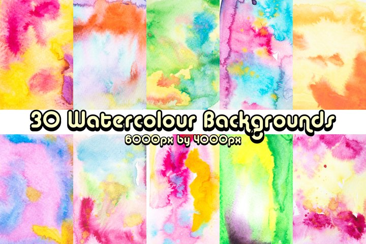 30 Real Abstract Real Watercolour Background Photographs