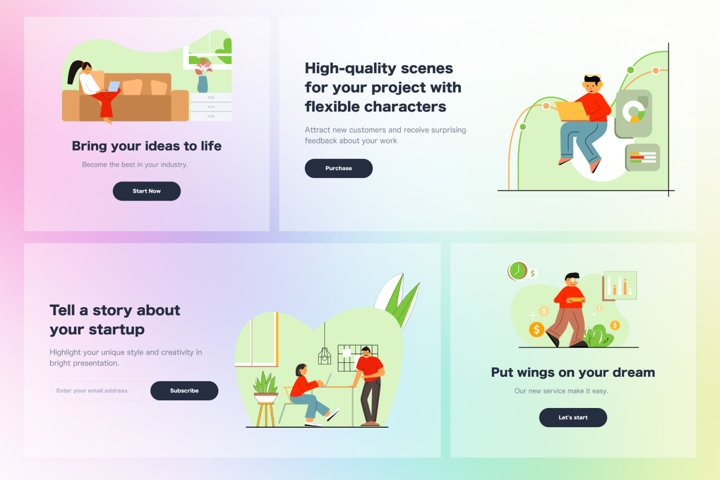 Online Shopping Web Illustrations