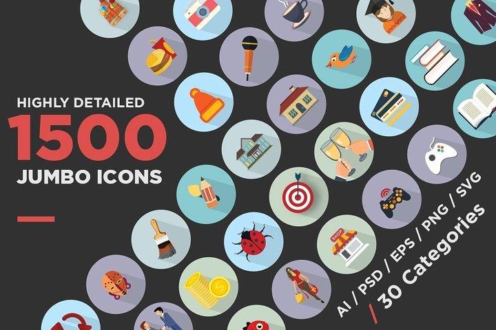 Jumbo Flat Icons Pack