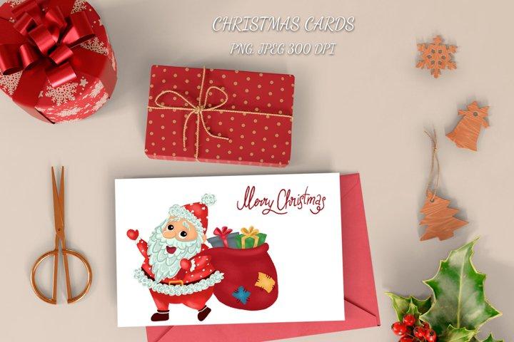 Christmas Santa Claus cards