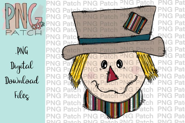 Scarecrow Boy Serape Print, Fall PNG File, Sublimation