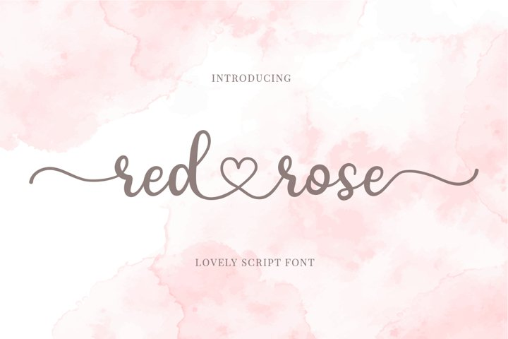 Download Red Rose - Romantic Script Font (897557) | Calligraphy ...