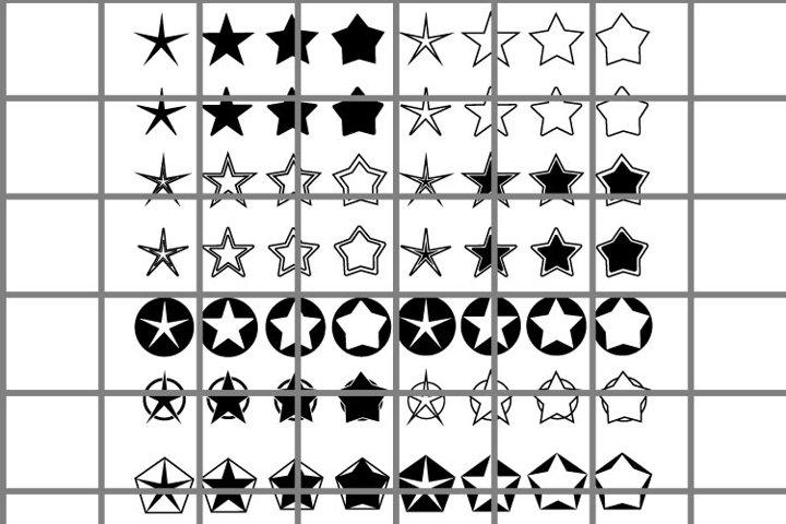 Black Star SVG set for cut.
