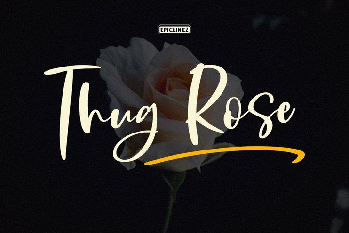 Thug Rose - A Handwritten Script Font