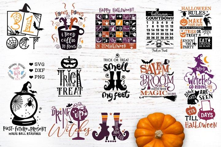 Halloween Bundle - 12 Halloween Cut Files