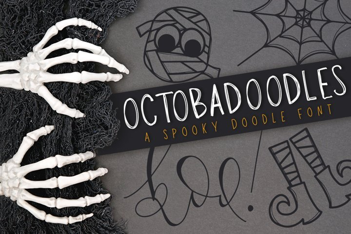 OctobaDoodles - A Halloween Doodle Font