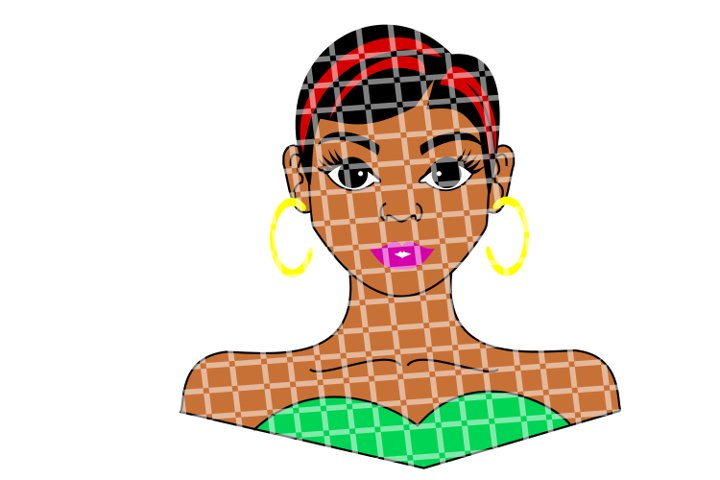 Short Hair Lady svg, Female svg, Afro svg